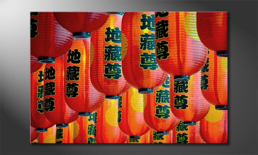 Das Leinwandbild Chinatown