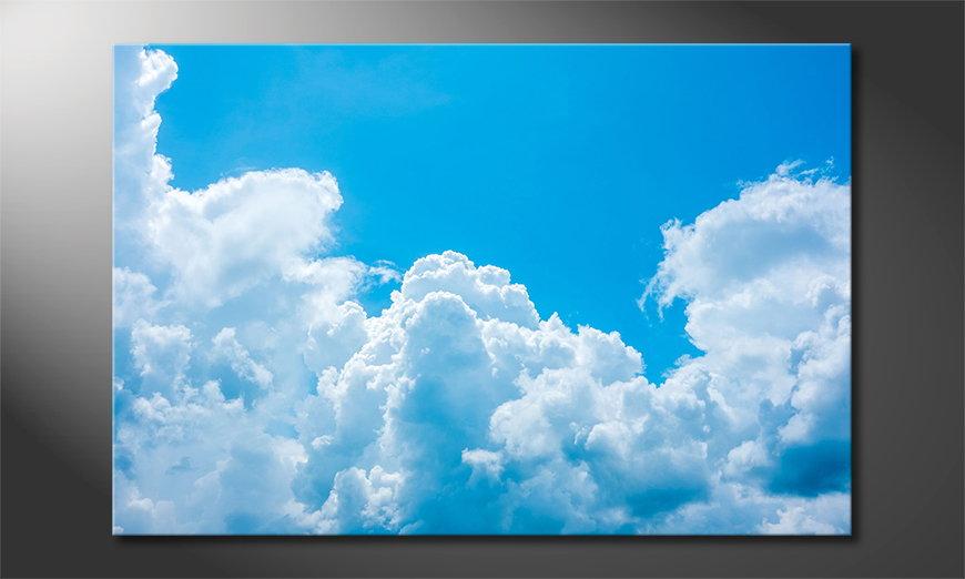 Das Leinwandbild Clouds