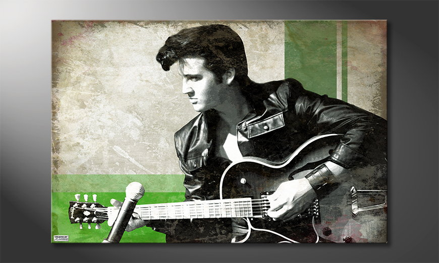 Das Leinwandbild Elvis