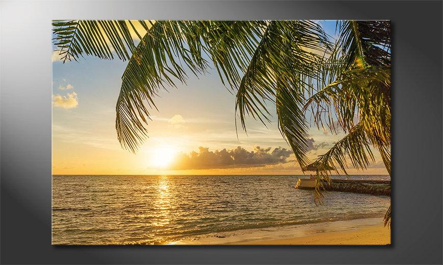 Das Leinwandbild Maledives