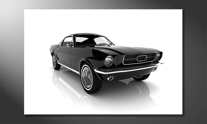 Das Leinwandbild Mustang