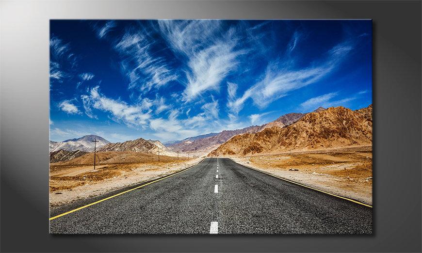 Das Leinwandbild Road to Nowhere