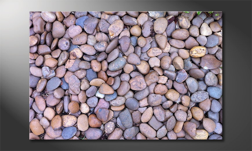 Das Leinwandbild Rock Texture