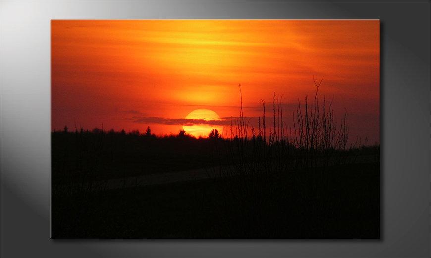 Das Leinwandbild Sunset Sky