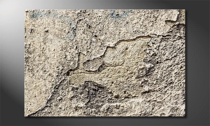 Das Leinwandbild Vintage Wall