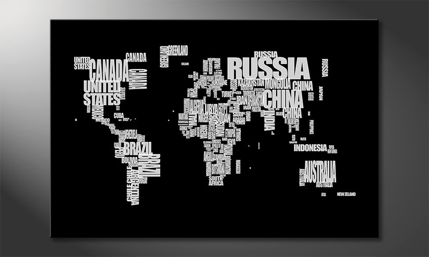 Das Leinwandbild Weltkarte Nr14