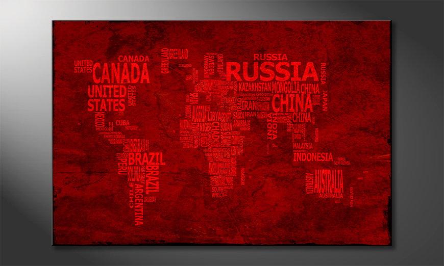 Das Leinwandbild Weltkarte Nr18