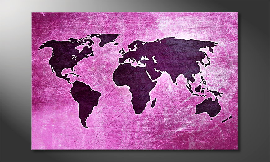 Das Leinwandbild Weltkarte Nr4
