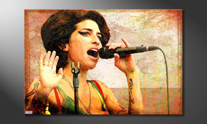 Das Wandbild Amy
