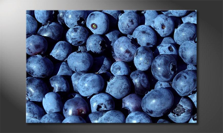 Das Wandbild Blueberries