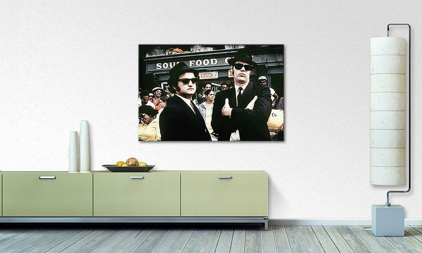 Das Wandbild Blues Brothers Moment