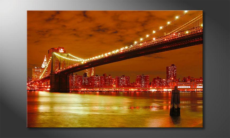 Das Wandbild Brooklyn Bridge