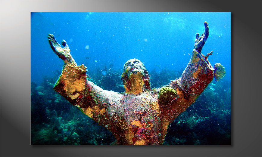 Das Wandbild Christ of the Abyss