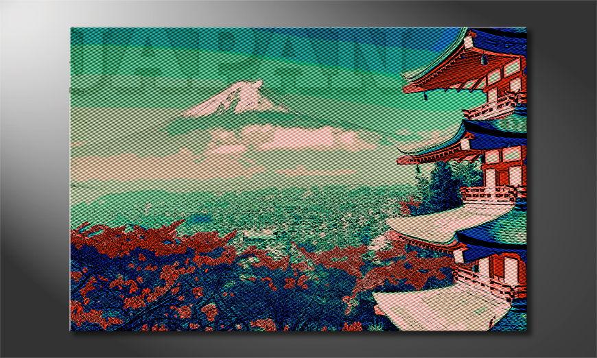 Das Wandbild Japan in verschieden Größen