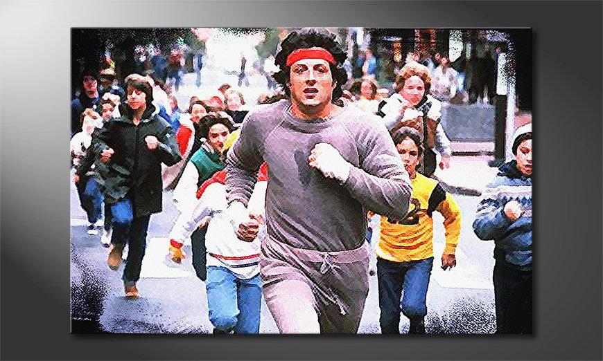 Das Wandbild Run Rocky Run