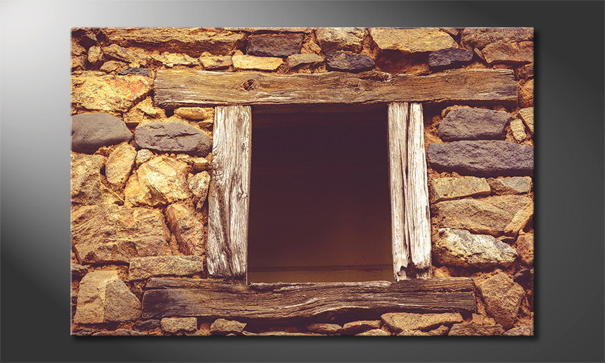 Das Wandbild Wooden Window