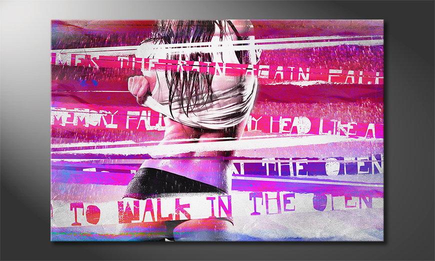 Das abstrakte Wandbild Rain in 6 Größen