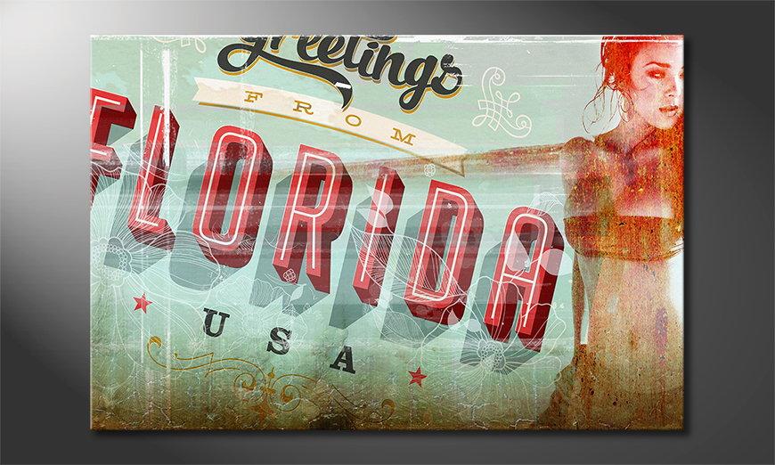 Das erotische Wandbild Florida Girl