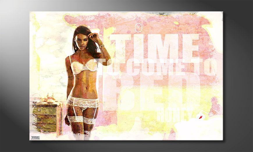 Das erotische Wandbild Time to Come