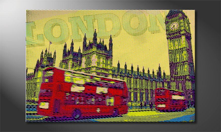 Das frische Leinwandbild London