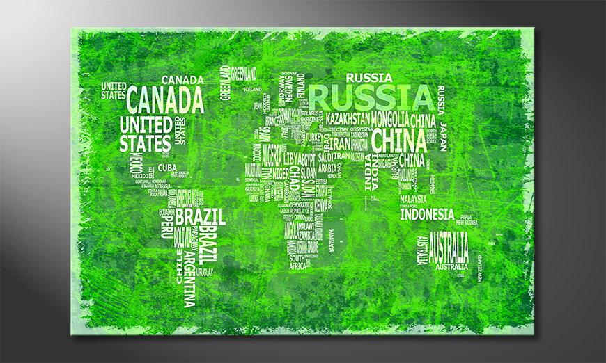 Das frische Wandbild Weltkarte Nr16
