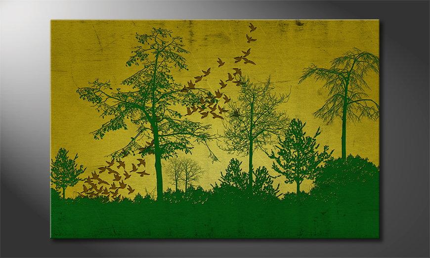 Das gedruckte Bild Birds in Forest