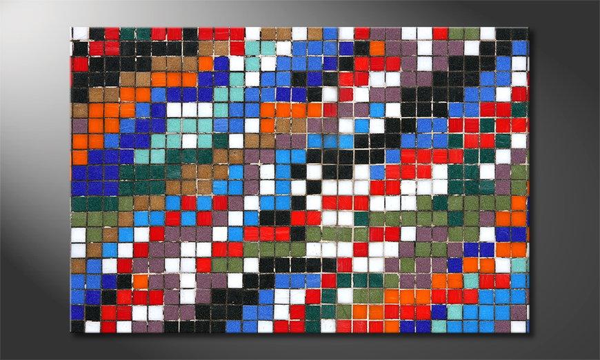 Das gedruckte Bild Mosaic