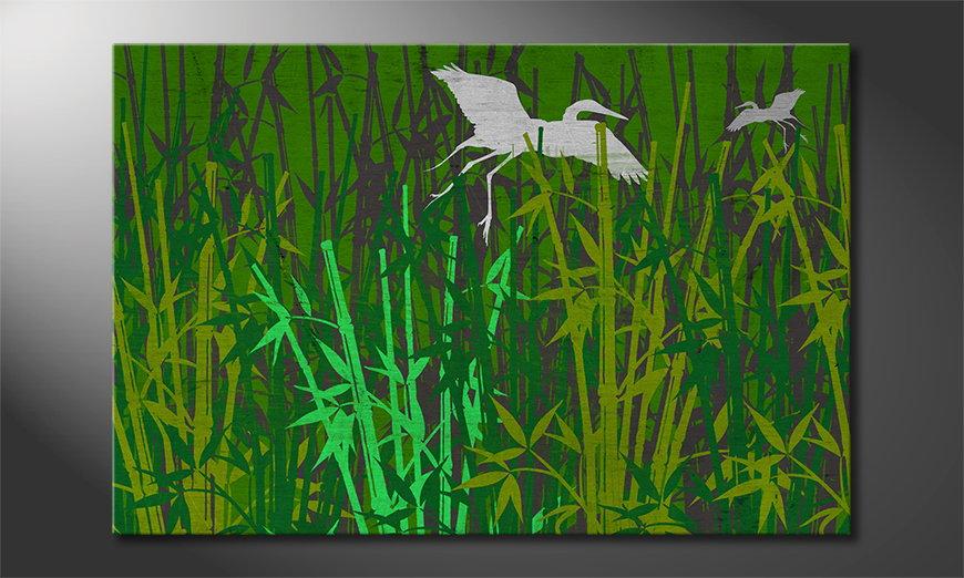 Das gedruckte Wandbild Bamboo