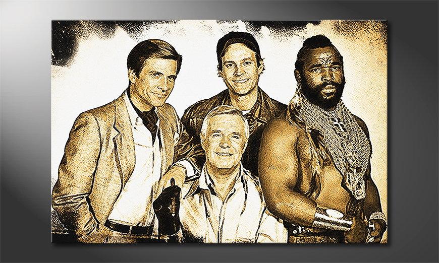 Das gedruckte Wandbild Das A Team