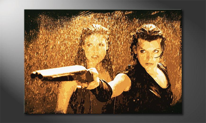 Das gedruckte Wandbild Resident Evil