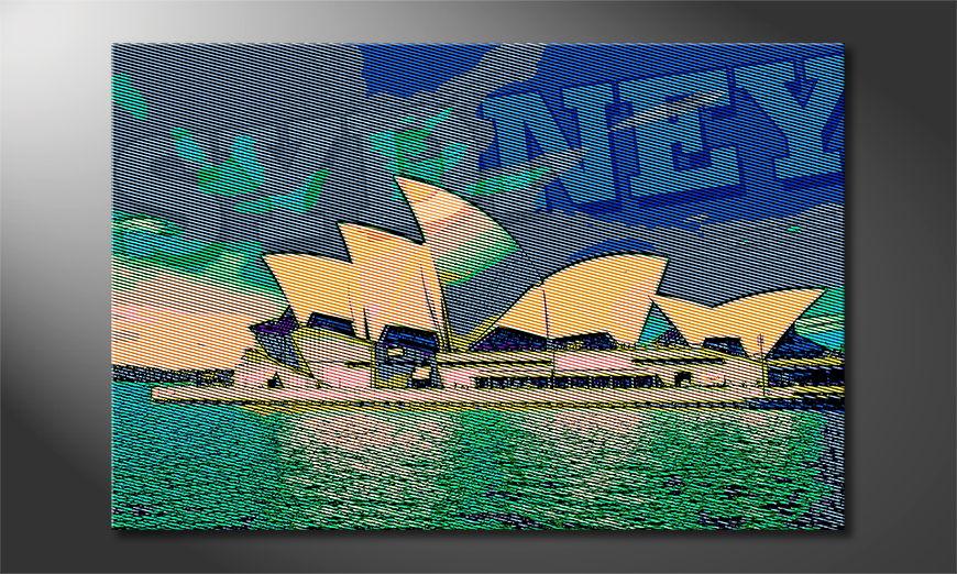 Das gedruckte Wandbild Sydney