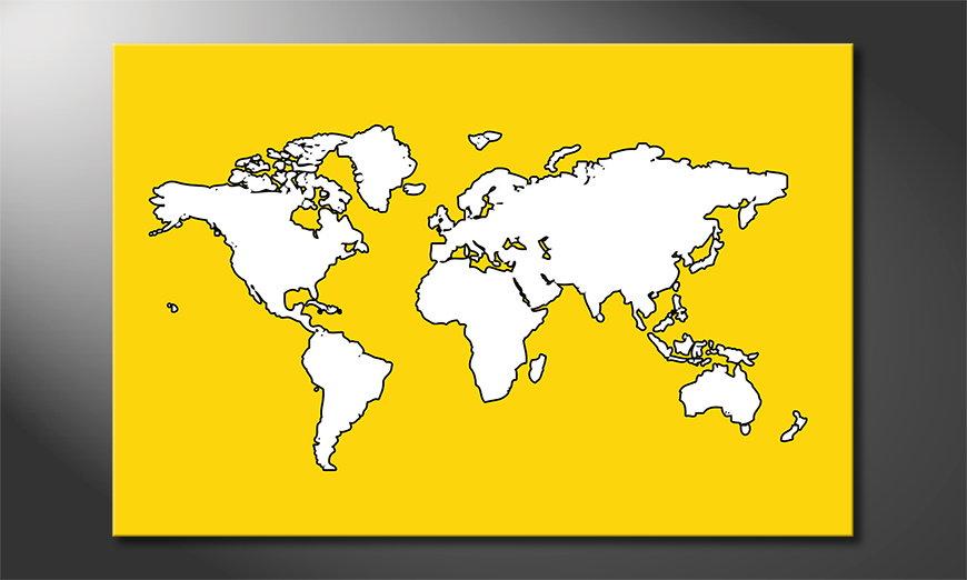 Das moderne Wandbild Map of the World