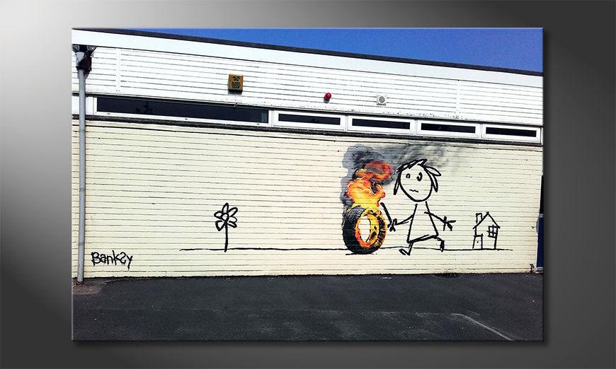 Das moderne Wandbild Play With Fire