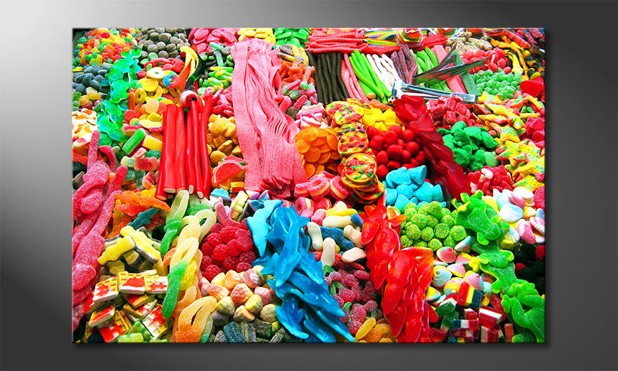 Das moderne Wandbild Sweets