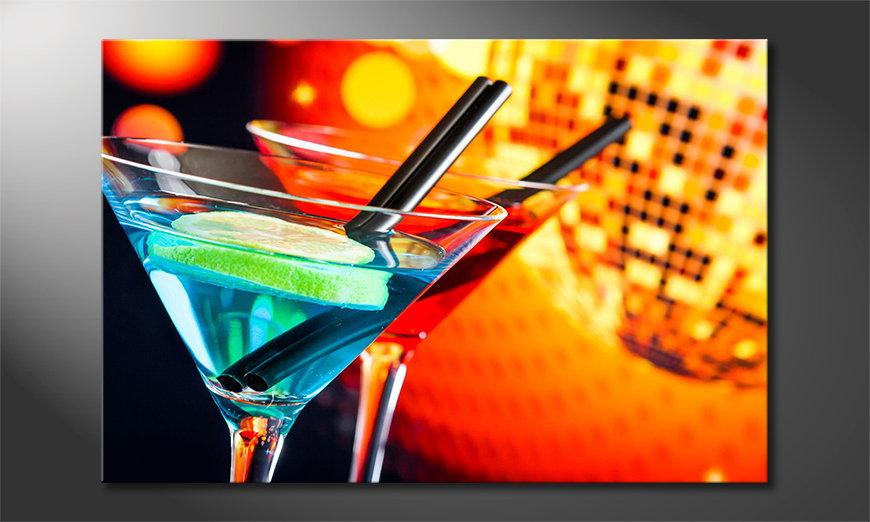 Das moderne Wandbild Two Cocktails
