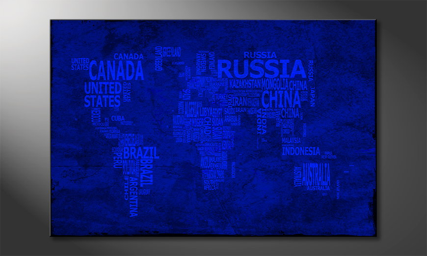 Das moderne Wandbild Weltkarte Nr10