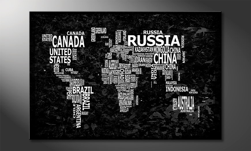 Das moderne Wandbild Weltkarte Nr12