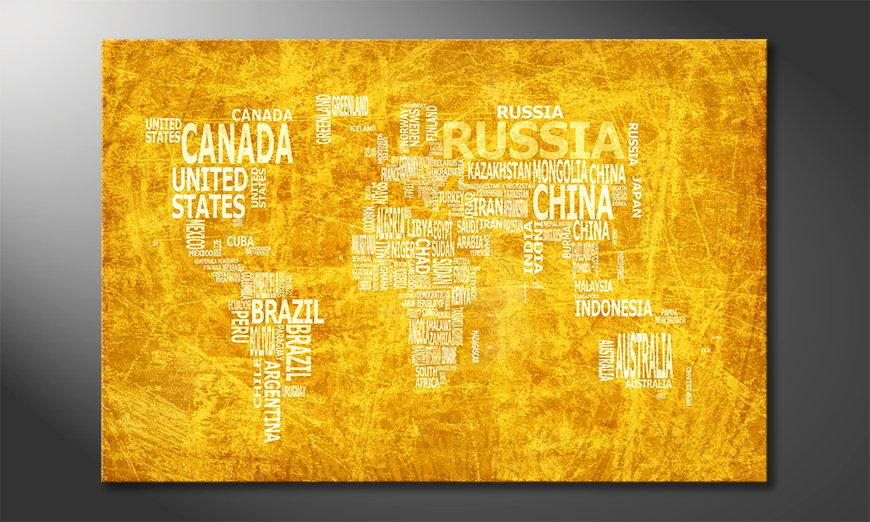 Das moderne Wandbild Weltkarte Nr15
