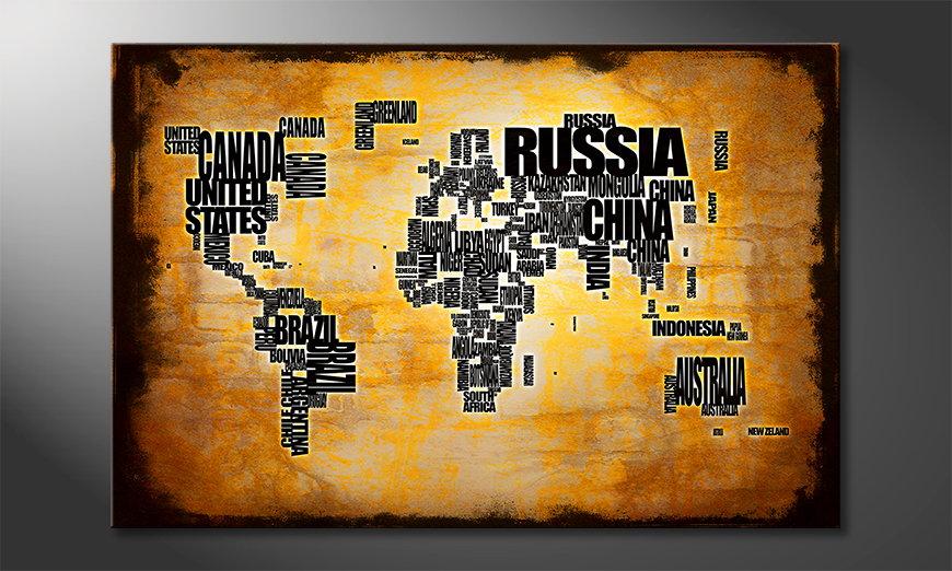 Das moderne Wandbild Weltkarte Nr5