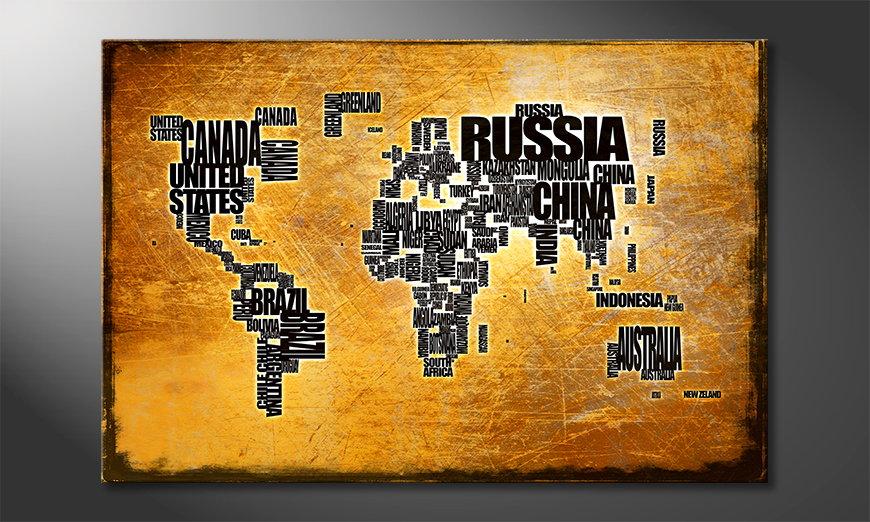 Ihr neues Wandbild Weltkarte Nr6