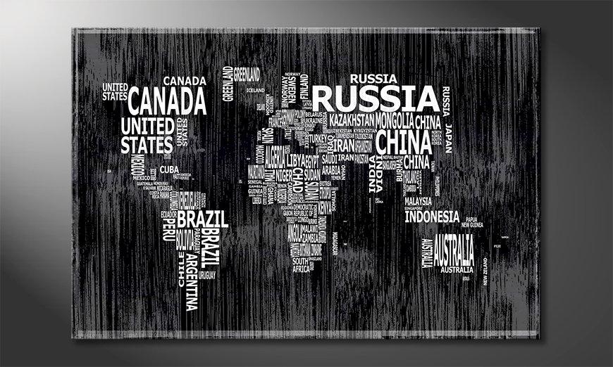 Modernes Wandbild Weltkarte Nr13