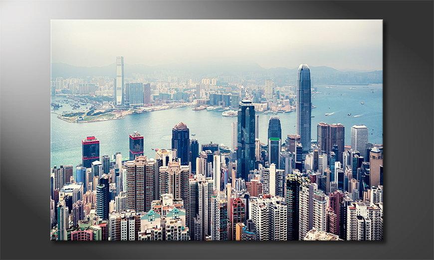 Wandbild Hongkong Skyline