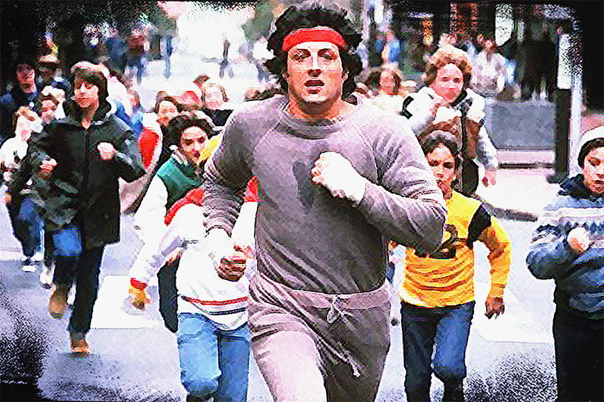 Fototapete Run Rocky Run in S bis XXL