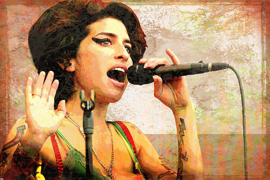 Heldin der Musik: Amy ab 120x80cm