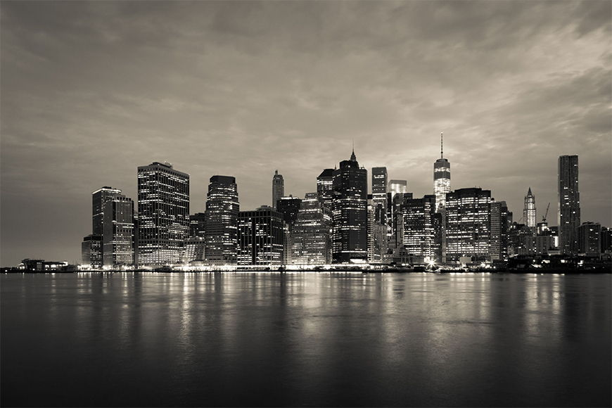 New York Foto-Tapete Manhattan Night