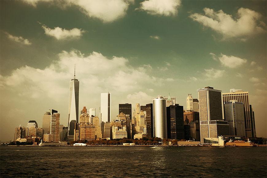 New York Tapete: Manhattan Skyline