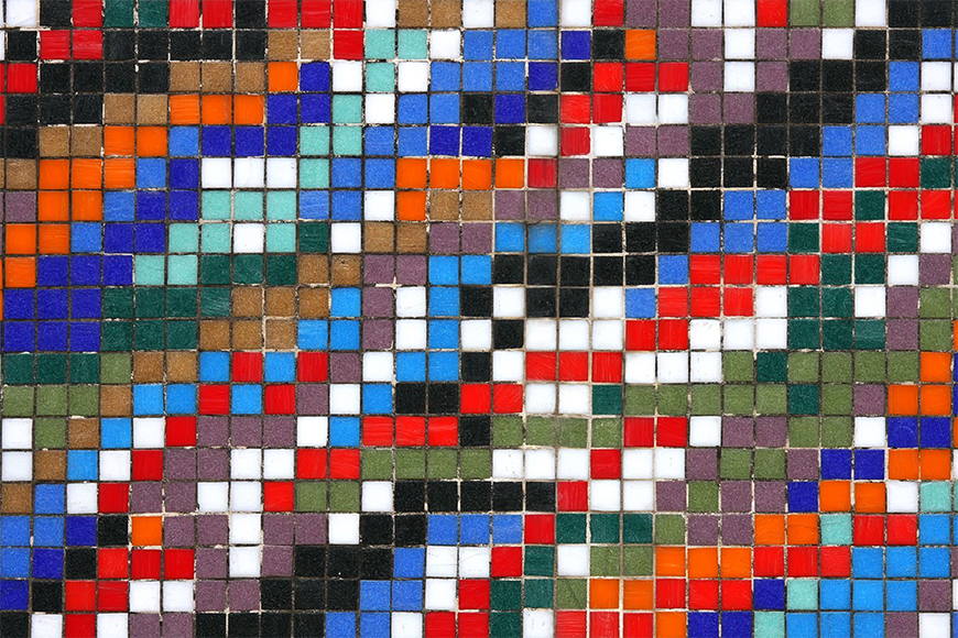 Vlies Fototapete Mosaikwand ab 120x80cm
