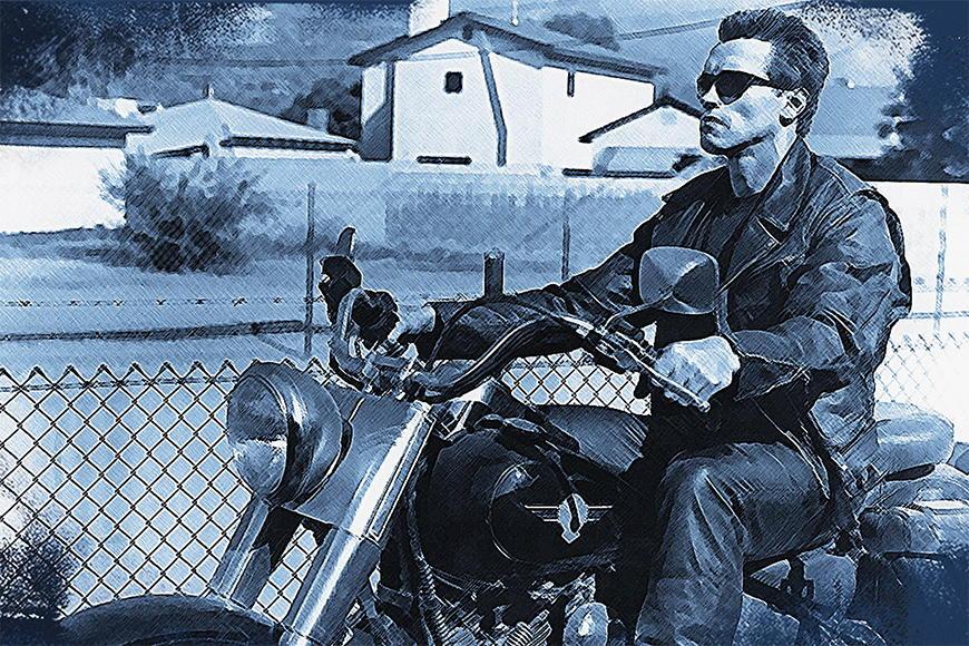 Vlies Fototapete Terminator ab 120x80cm