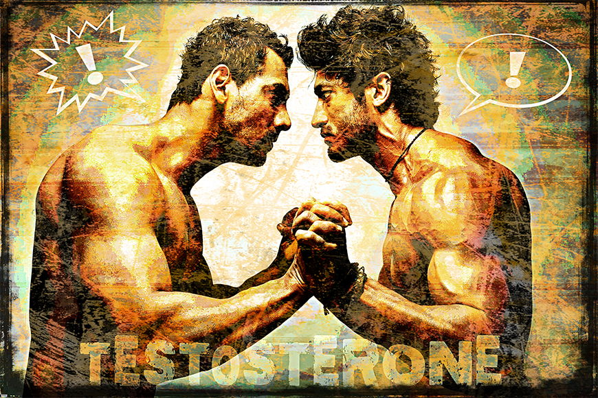 Vlies Fototapete Testosterone in S bis XXL