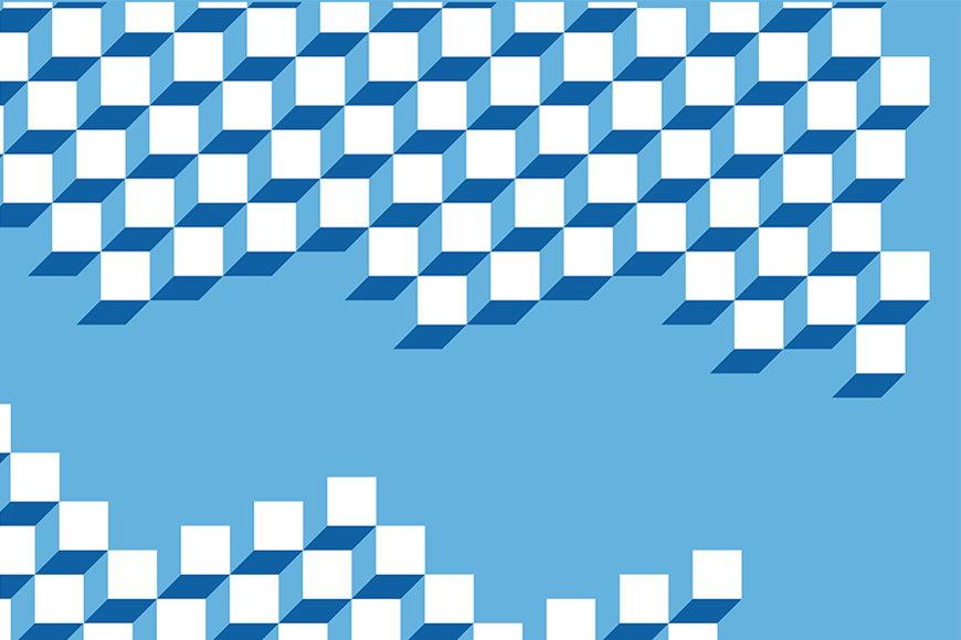 Vlies-Tapete 3D Würfel ab 120x80cm